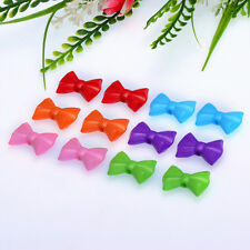 Free Shipping 5PCS ACRYLIC 3D ART DECORATION BOWS SPACER BEADS  MIXED COLOR