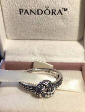 PANDORA SPARKLING LOVE KNOT RING 190997CZ,S925 ALE,SIZE 52 STERLING SILVER+POUCH