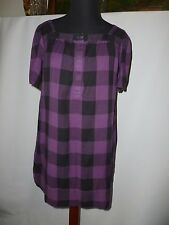 JACK WILLS TARTAN LOOSE FITING TUNIC/ DRESS  SIZE UK 10