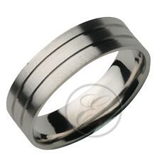 6mm Palladium Designed Flat Court Wedding ring Band K-Z