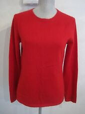 NWT PECK & PECK Medium Ruby Red 2 Ply Cashmere Pullover Sweater MSRP $129.00