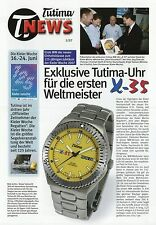 Tutima news 1 2007 relojes folleto folleto relojes brochure Watches x-35 FX UTC
