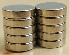 N-52 Grade, Cylindrical, 12x3, Neodymium, RE, Super Strong Magnets, Set of 10