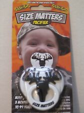 SIZE MATTERS PACIFIER DEER hunting hunter Buck BABY camo NEW Billy Bob STOCKING