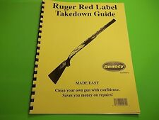 TAKEDOWN MANUAL GUIDE RUGER RED LABEL O/U SHOTGUN, detailed step by step
