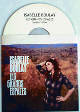 "ISABELLE BOULAY - CD SAMPLER PROMO 5 TITRES ""LES GRANDS ESPACES"""