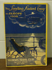1928 The Leading Student Tour To Europe Travel Club Cunard Anchor Cruise Lines