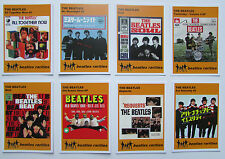 Set of 8 BEATLES RARITIES trade cards -ORANGE 'Unreleased in the UK' series gift