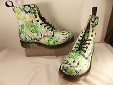 Dr. Martens (BRAND NEW) Slime Floral Pascal 8-Eye Boots Size 8 M Green $150.00!