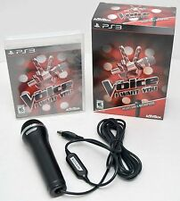 NEW PS3 The Voice: I Want You Game Bundle Logitech Microphone singing party sing
