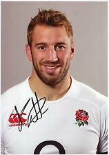 CHRIS ROBSHAW - Signed 12x8 Photograph - ENGLAND RUGBY UNION