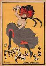 LE FROU FROU, 1899 Vintage Leonetto Cappiello Reproduction CANVAS PRINT 24x33 in