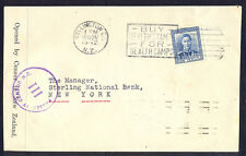 New Zealand, 1942,  Cover from Welington to NewYork in USA with censorship cance