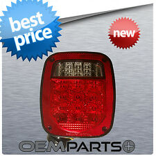 NEW STUD-MOUNT COMBINATION LED LIGHT CLEAR RED UNIVERSAL TAIL TRUCK TRAILER BOAT