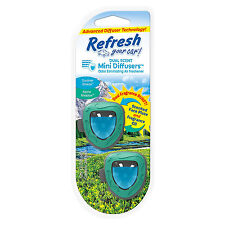 Refresh Vent Clip Mini Diffusers Car Air Freshener, Alpine Meadow/Summer Breeze