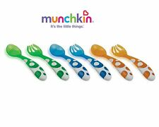 Munchkin Child/Toddler Cutlery Set Forks & Spoons Set of 6-BPA Free-Baby Weaning