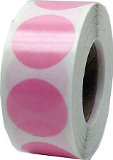 Colored Clear Dot Adhesive Stickers, 3/4 Inch Round Labels, 500 Total, 7 Colors