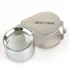 BestDealUSA Silver 30x 21mm Jewelers Eye Loupe Magnifier Magnifying Glass Powerf
