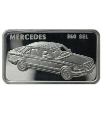 Silberbarren 1 oz Motivbarren Mercedes 560 SEL (Feinsilber 31,1 g)