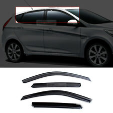 Smoke Sun Visor Window Molding K-901-115 for HYUNDAI 2011-2016 Accent Hatchback