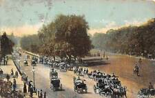 Hyde Park London Rotten Row Carriages Horses Animated, Fashion Clothing 1907