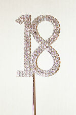 Number 18, Large Diamante Cake Topper, Stunning for Celebration Cakes