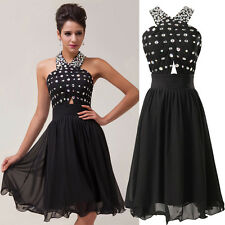 BLACK Short Cocktail Prom Bridesmaid Evening Party Gowns JUNIOR Graduation Dress