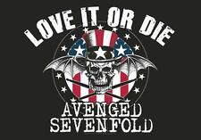 "AVENGED SEVENFOLD AUFKLEBER / STICKER # 2 ""LOVE IT OR DIE"""