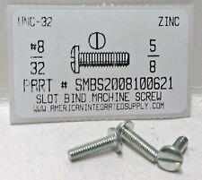 8-32x5/8 Binding Head Slotted Machine Screws Steel Zinc Plated (100)