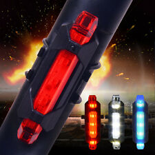 USB Rechargeable Bright LED Waterproof  Mountain Bike Taillight Warning Lights