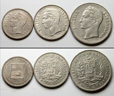 A183 Venezuela 1965 1967, 3 monedas  - lot of 3 coins