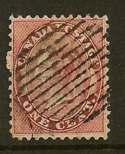 CANADA : 1859 1c pale rose SG 29 used