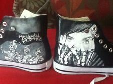 MY CHEMICAL ROMANCE HAND PAINTED HIGH TOPS , VARIOUS DESIGNS OR CUSTOMISED