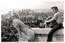 Marilyn Monroe Elvis Presley Vintage Photo - Quality Canvas Art Print A2