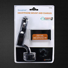 iSimple ISSH6203 Stronghold Smartphone Phone Car Lighter Mount and Charger