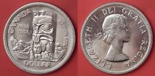 Brilliant Uncirculated 1958 Canada British Colombia Silver 1 Dollar