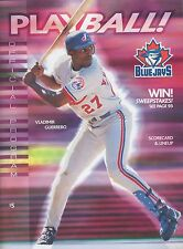 Toronto Blue Jays Playball Official Program Baseball Magazine 2001