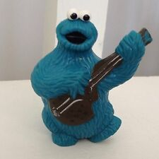 "1982 CTW MUPPETS INC PVC PLASTIC COOKIE MONSTER W/""BLACK GUITAR"" FIGURE"