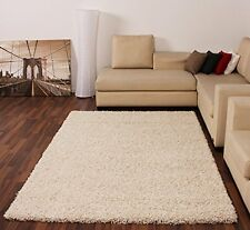Shaggy Rug High Pile Long Pile Modern Carpet Uni Cream Ivory, 120x170 cm