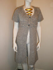 SANDWICH Long Cardigan Coat Short Sleeve Wool/Mohair BNWT Size XL rrp £115.00