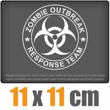 Zombie outbreak biohazzard 11 x 11 cm JDM decal Sticker Adhesivo racing la cut