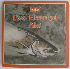 TWO HEARTED ALE Beer COASTER, Mat w/ FISH Bell's Brewery Kalamazoo MICHIGAN 2015