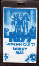 KISS CANADIAN TOUR 1977 FACILITY PASS Backstage Pass UNUSED