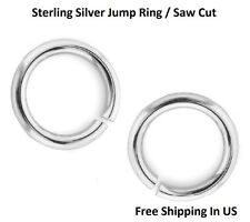 Sterling Silver Jump Ring  22 Ga - 3 MM O/D ( pack Of 50) Saw Cut