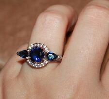 topaz Cz ring gems silver jewelry engagement cocktail band 5.5 6 6.5 7.5 8.25
