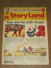 STORYLAND #51 16TH MARCH 1985 MARVEL BRITISH WEEKLY TOBY AND THE LITTLE PEOPLE