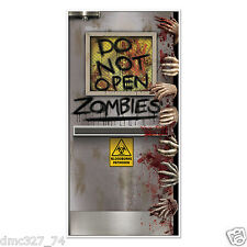HALLOWEEN Walking Dead Party ZOMBIE LAB Do Not Open DOOR COVER Decoration Prop