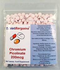 Tablet Bargains - Chromium Picolinate 200mcg - 360 Tablets
