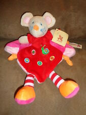 Mouse Red Orange Snail Belgium Nicotoy Baby Security Blanket Plush Rattle Lovey