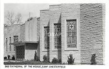 A26/ Camp Chesterfield Indiana In Real Photo RPPC Postcard c1950 Cathedral Woods